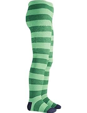 Playshoes Thermostrumpfhose Blockringel, medias Niños, Verde (Grün), 110 (Talla del fabricante: 110/116)