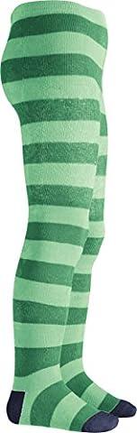 Playshoes Mädchen Strumpfhose Thermostrumpfhose Blockringel Grün (Grün 29), 50 (Herstellergröße: