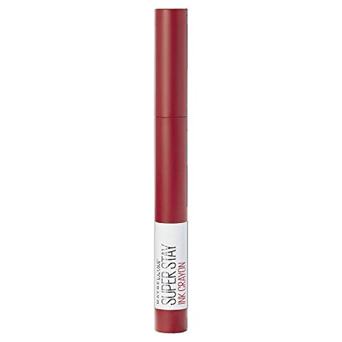 Maybelline New York Lippenstift Matt Lange Haltbarkeit SuperStay Ink Crayon Tono 45 Hustle in Heels Rot