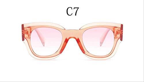 ZHAS Sonnenbrillen Sonnenbrillen Pink Shades Square Sonnenbrillen Weiblich Vintage Big Frame Brillen Runde Brillen Herren Sonnenbrillen sind aus hochwertigen Materialien für Langlebigkeit hergest