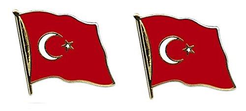 Yantec Flaggenpin 2er Pack Türkei Pin Anstecknadel Fahnenpin