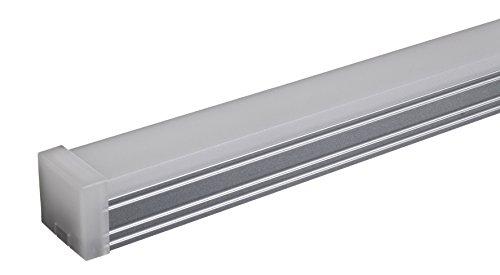 LED MADE IN EUROPE Lampada Led Economy 125cm sottopensile, sottopiano, legno, muro, vetri, specchi, incasso, bagno 24W, 1568lm, luce calda 3000K, con alimentatore ultrasottile, senza interruttore. Corpo alluminio anodizzato.
