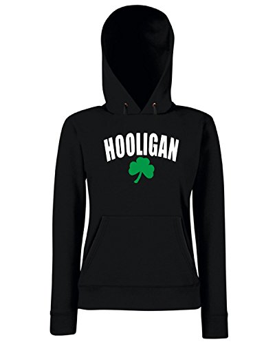 T-Shirtshock - Sweats a capuche Femme TIR0065 hooligan black tshirt Noir