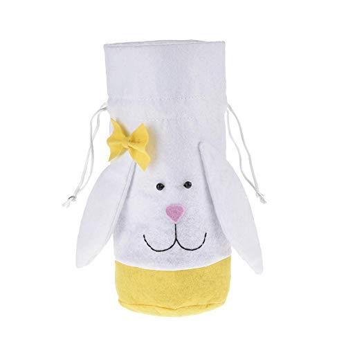 ten Tasche Kaninchen Ohr Kordelzug Geschenk Taschen Ostern Tote Bag Geschenk Cookie Brot Kuchen Süßigkeiten Körbe Für Kinder Geschenke Party Festival Supplies Handwerk Dekoration ()