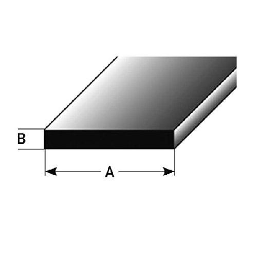 Flachprofil, Montageprofil / Bauprofil, 10 x 2 mm aus Aluminium