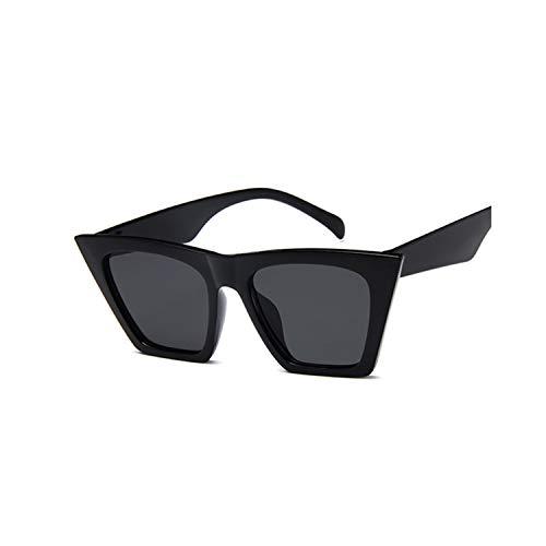 Sportbrillen, Angeln Golfbrille,Fashion Square Sunglasses Women Designer Luxury Man/Women Cat Eye Sun Glasses Classic Vintage UV400 Outdoor Oculos De Sol Black Gray