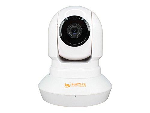 LUPUSNET HD LE200, dreh und schwenkbare WLAN Netzwerkkamera für Innenbereich, Infrarot Nachtsicht, Mikrofon und Lautsprecher integriert, weiß, 10200