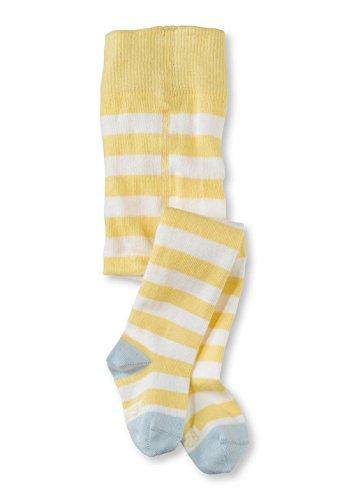 hessnatur Baby Mädchen und Jungen unisex Strumpfhose geringelt blau, gelb 62/68, 74/80, 86/92, 98/104 (Bio-baumwoll-strumpfhose)