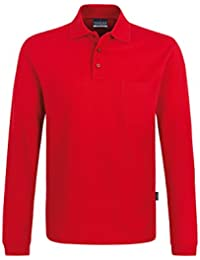 "Hakro Langarm-Poloshirt ""Pocket"" dunkelblau Größe 5 (XXL)"