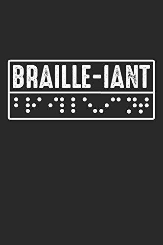 Braille-iant: Blindenschrift Alphabet  Notizbuch liniert DIN A5 - 120 Seiten für Notizen, Zeichnungen, Formeln   Organizer Schreibheft Planer Tagebuch