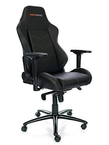 MAXNOMIC Dominator Premium Gaming Bürostuhl & Esports, Metall Farbe Schwarz