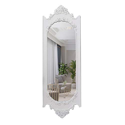Schminkspiegel Wandspiegel In Voller Länge, Vintage-Stil Ganzkörperspiegel Prinzessin Spiegel für Ankleidezimmer Mädchen (Color : White) (Mädchen In Spiegel Voller Für Länge,)