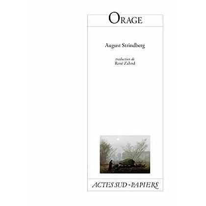 Orage (PAPIERS (TEXTES)