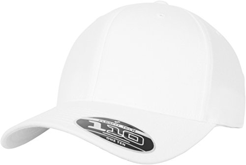A-flex-fitted-caps (Flexfit 110 Pro-Formance Cap, White, one Size)