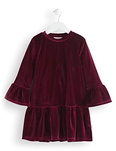 RED WAGON Mädchen Velvet Kleid, Violett (Maroon), 128 (Herstellergröße: 8) -