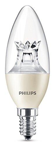 Philips LED Lampe WarmGlow ersetzt 40 W, EEK A+, E14, warmweiß (2700 Kelvin), 470 Lumen, klar, Dimmbar, 8718696453483