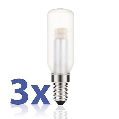 LED Leuchtmittel E14 in Stäbchenform, 3W, entspricht 26W, 250 Lumen, 2700 K, warm-weiß, A++, 230 V, Lampe von parlat, 3 Stück Packung von LEDs Com GmbH auf Lampenhans.de