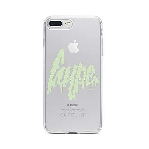 8 Plus Handyhülle Smartphone Apple Case aus TPU mit Freaky Hype Print Motiv Slim Design Transparent Cover Schutz Hülle Protector Soft Aufdruck Lustig Funny Druck ()