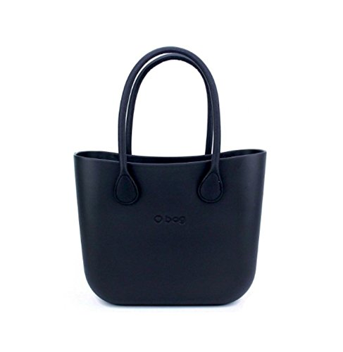 Borsa o bag nera +manici lunghi eco pelle neri+sacca nera