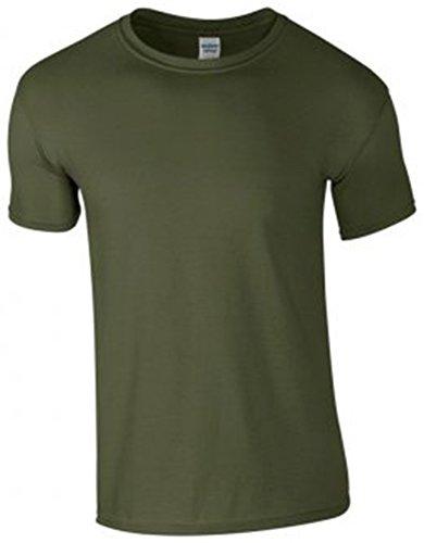 GILDAN -T-shirt  Uomo-Donna Verde militare
