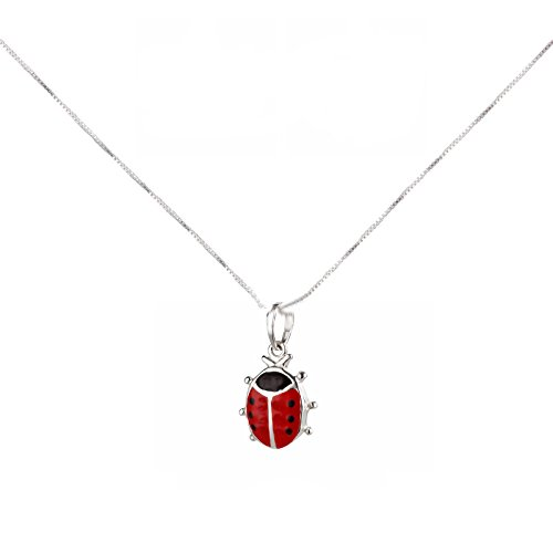 SL-Silver Chain Pendant 925Silver Small Ladybird in Gift Box Set Test