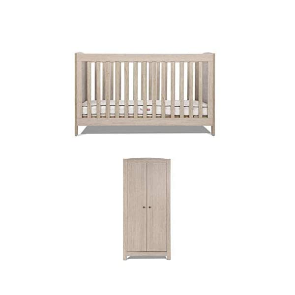 Silver Cross New England Cot Bed and Wardrobe Silver Cross 3 base height positions Suitable from birth to 4 years Converts into toddler bed 1