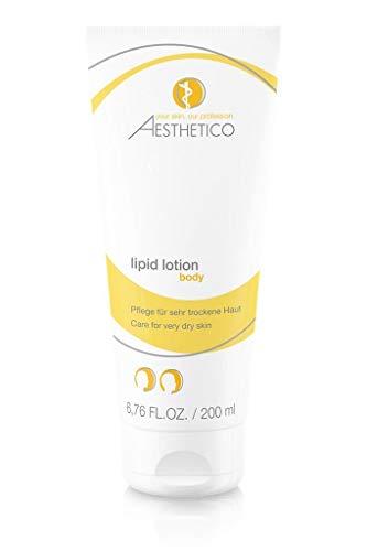 AESTHETICO lipid lotion - 200 ml - Intensiv rückfettende Hautpflegelotion für trockene bis sehr trockene Haut mit schützenden Ölen und 5% Urea. -
