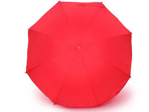 Sonnenschirm für Kinderwagen mit UV Schutz 50+ Rot von Heitmann Ø 80 cm