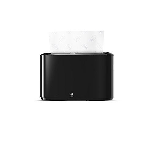 Tork 552208 Xpress Tischspender für H2 Multifold Handtücher im Elevation Design / Papiertuchspender für hygienische Einzeltuchentnahme in schwarz