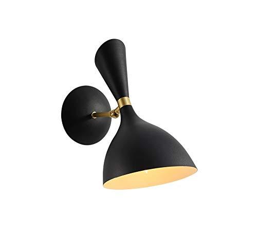 NOHOPE E14 geometrische Wandleuchten/schwarze Metallleuchte / 180 Grad verstellbares Wandbeleuchtungszubehör/an der Wand befestigte Spiegelleuchte Leselampe/Korridor-Nachttischlampe mit kurzem Arm -