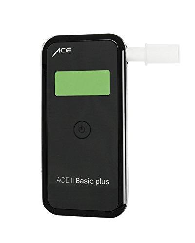 ACE Alkoholtester II Basic Plus, TU-Wien-Messgenauigkeit: 99,0{f4b7fda1e868b1d2a1106e4839e6616641b7b2d37080ea8dfe330a810431cad0}, polizeigenaue Messergebnisse durch elektrochemischen Sensor, Messbereich 0,00‰ - 4,00‰