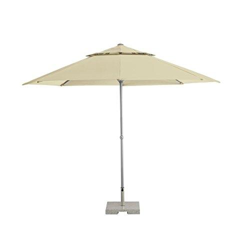 KETTLER Advantage Schirme easy-lift mittelmastschirm, natur, 330x330 cm rund, Gestell Aluminium, Bespannung Polyester, 9.85 kg