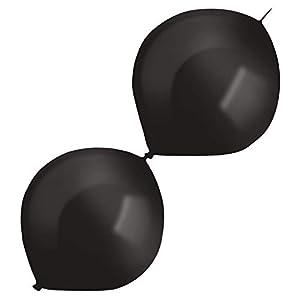 amscan 9905693 50 - Globos de látex (izquierdos), Color Negro