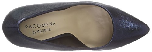 Paco Mena Acebo, Chaussures à talons - Avant du pieds couvert femme Bleu - Blau (Midnight Blue)
