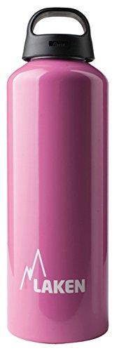 Botella Classic de Laken con tapón de rosca, anillo y boca ancha 1 L Rosa