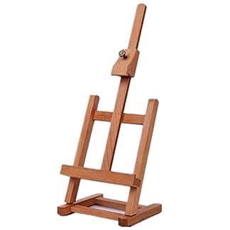 Caballete multifuncional Caja de madera integrada Caja de mesa de dibujo de arte Cuadro de pintura al óleo Maleta Caja de escritorio Suministros de arte – Burlywood