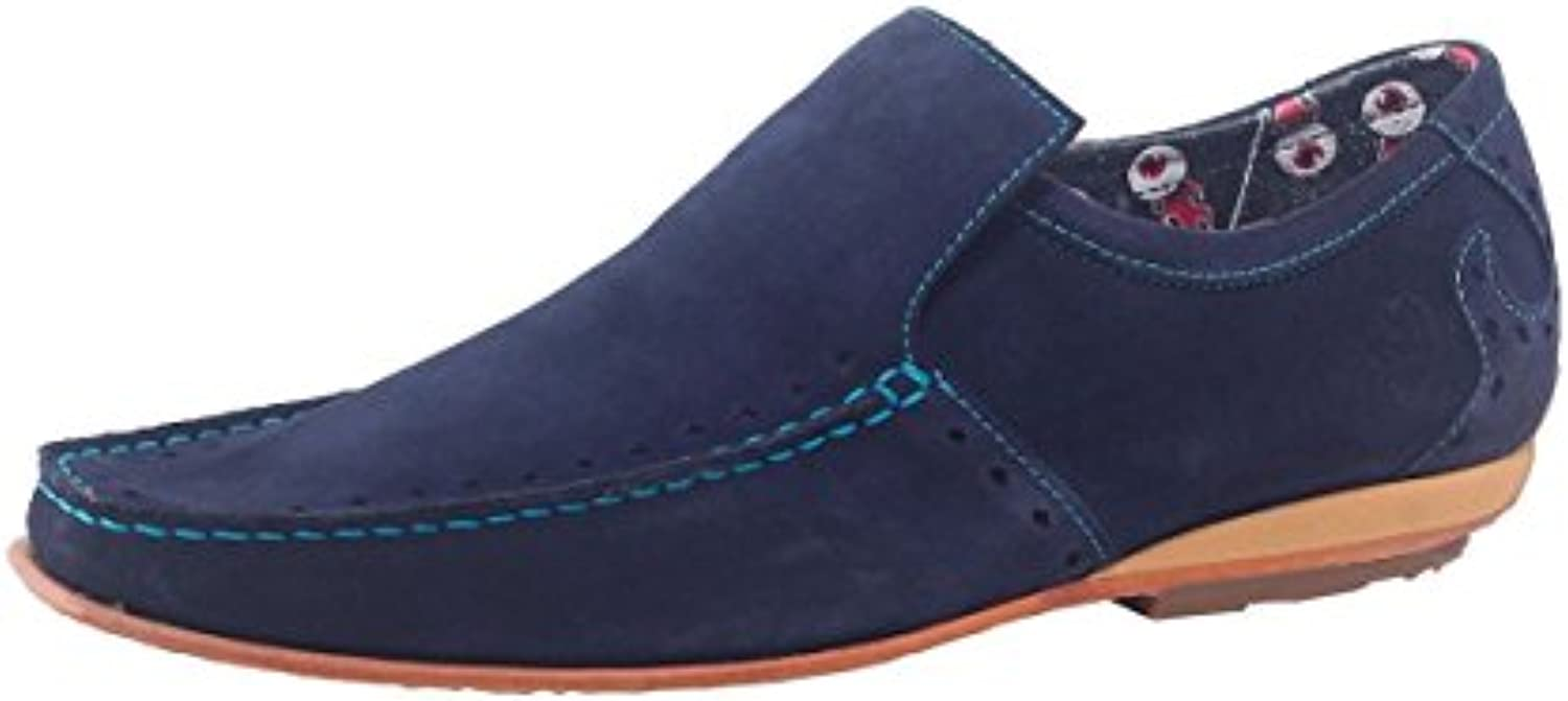 Jeffery West Hombres Mocasines de Gamuza Martini Marina De Guerra