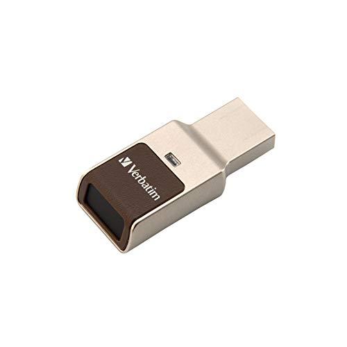 Verbatim Fingerprint Secure USB 3.0-Stick - 64 GB - Sicherer Datenspeicher mit Fingerabdruckscanner zum Schutz Ihrer Daten, 49338