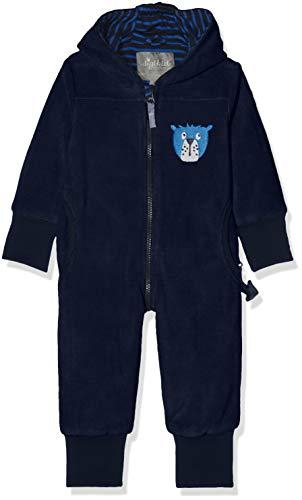 Sigikid Jungen Fleece Overall, Baby Schneeanzug, Blau (Mood Indigo 275), 92