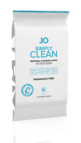 System Jo Personal Cleansing Wipes Simply Clean - 12 Pack