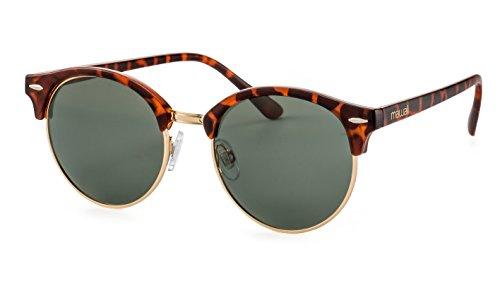 Mawaii Polarisierte runde Sonnenbrille/Vintage Sonnenbrille für Damen und Herren F2504898