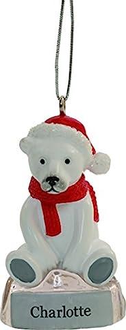 Weihnachtskugel süßer Eisbär, mit Namen Jamie