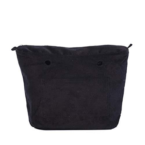 O Bag Sacca Interna Cotton Corduroy Nero