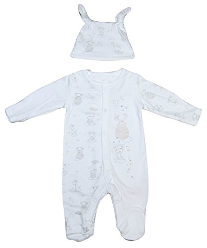 Baby-Boy-Girl-Unisex-2-PIECE-Sleepsuit-Hat-Tiny-Baby-upto-3-Months