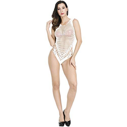 ALISIAM Damen Unterwäschen Sexy Frauen Strumpfhose Erotic Jumpsuit Bodystockings Reizwäsche Versuchung Netz Garn Negligée Overalls Nachtwäsche (Halfter Schiere Kostüm)