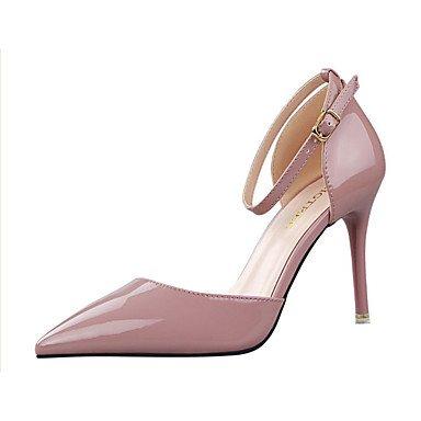 Moda Donna Sandali Sexy donna estate tacchi tacchi in pelle di brevetto Casual Stiletto Heel altri nero / giallo / viola / rosso / Argento Altri Black