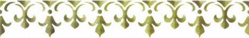 Kreul B439 - Motiv-Schablone, selbstklebend Lilienzeichen 2, 11 x 70 cm