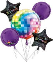 Disco Fever 70s Foil Balloon Bouquet.