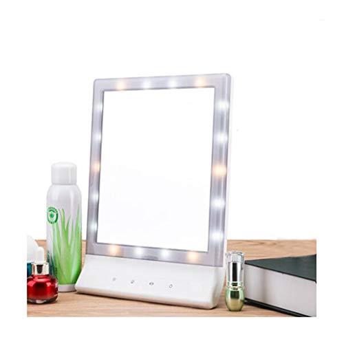 Carré De Bureau De Miroir De Maquillage De LED Se Pliant Le Miroir De Maquillage Portatif De Beauté Avec La Lumière Remplissante Légère
