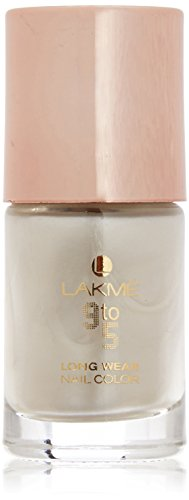 Lakme 9 to 5 Long Wear Nail Color, Pearl Crush, 9 ml